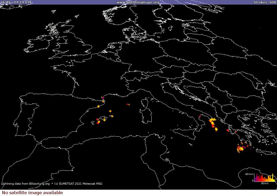 Fulminazioni e stima piogge (MPE)