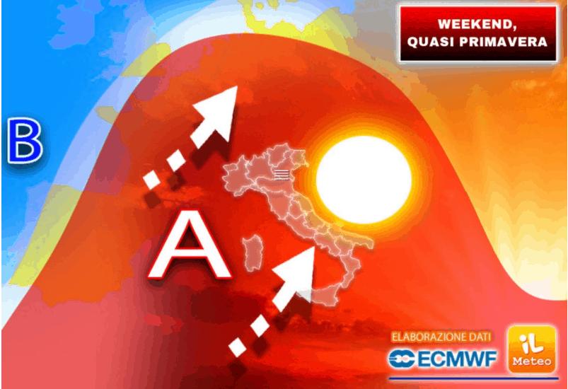 meteo weekend dominato dall'anticiclone