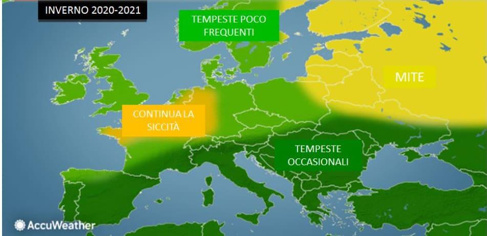 previsioni meteo lungo termine inverno 2020