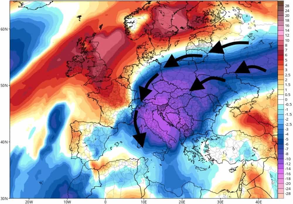 meteo potrebbe arrivare l'inverno a fine novembre