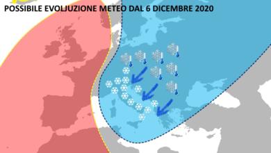 Photo of METEO, previsioni per la nuova settimana: torna L'INVERNO?
