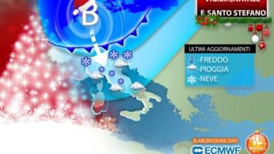Photo of Meteo, cambia tutto da Natale. Neve e gelo. Aggiornamenti
