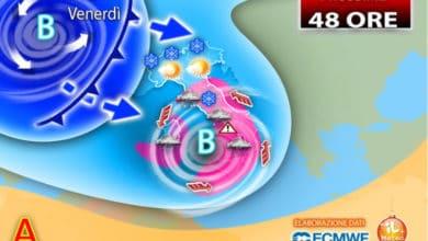 Photo of Meteo domani: nuovo peggioramento. Pioggia e neve