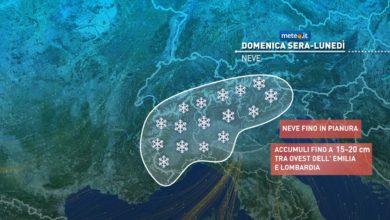 Photo of Meteo: domenica 27 dicembre nuova e veloce perturbazione.