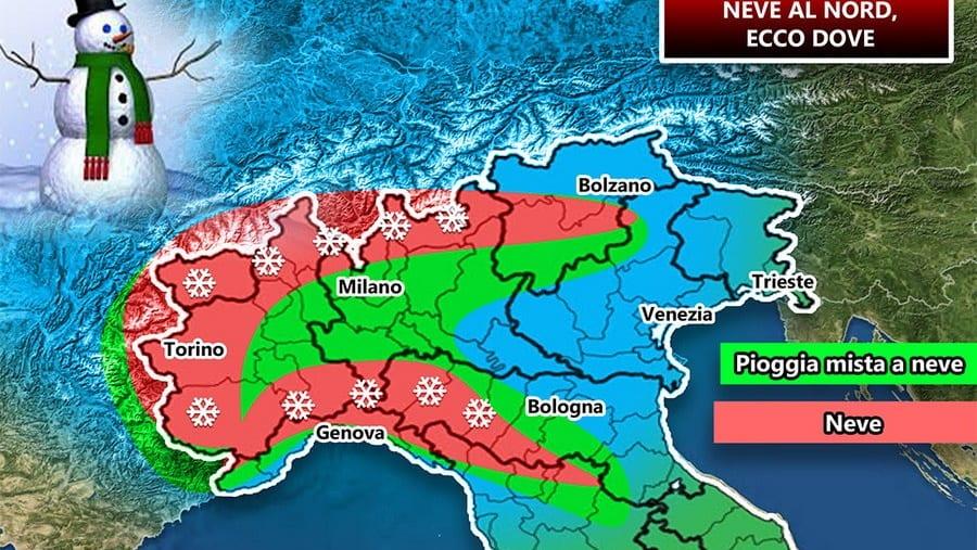 Le previsioni meteo per la giornata di domani in Italia