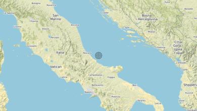 Photo of Terremoto Costa Abruzzese-Chieti (Chieti) – Magnitudo (ML) 3.0