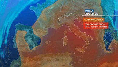 Photo of Meteo lungo termine: finisce febbraio con temperature PRIMAVERILI