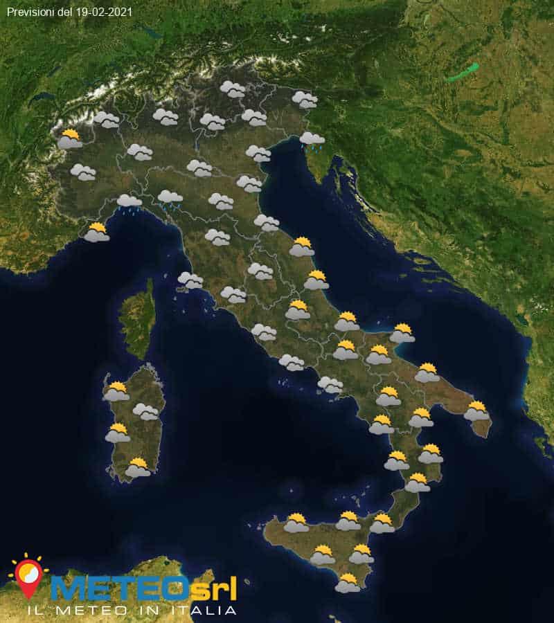 Previsioni Meteo Italia 19/02/2021