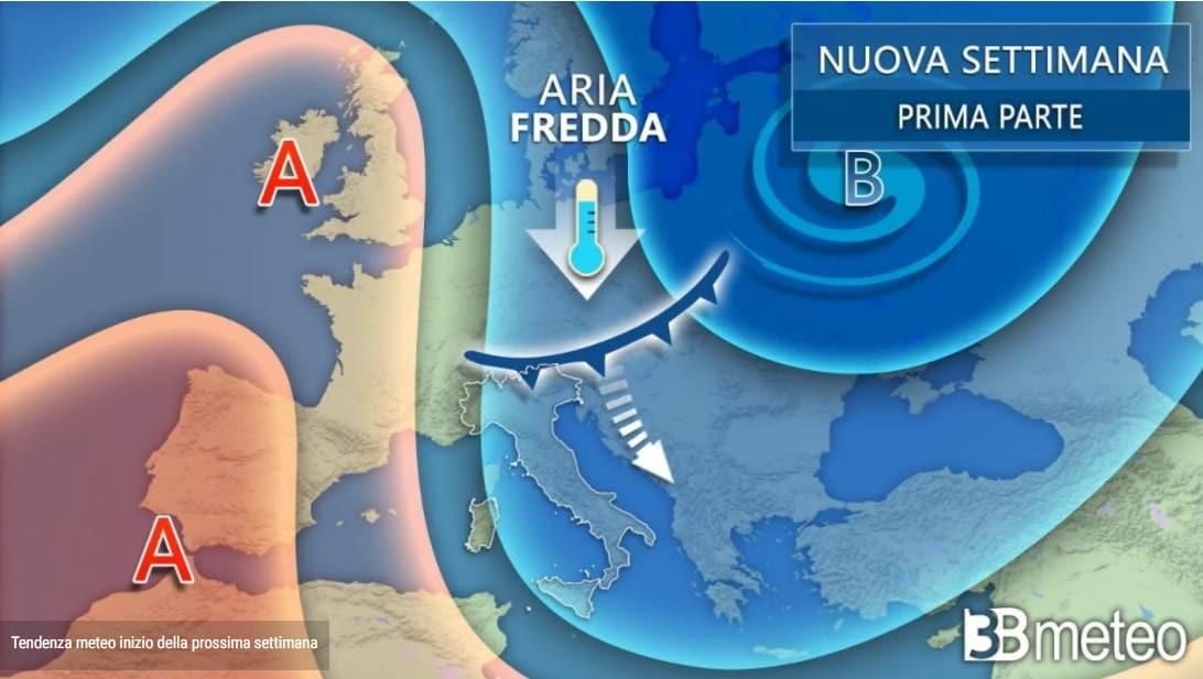 Previsioni del tempo a cura di 3b meteo, aggiornamento