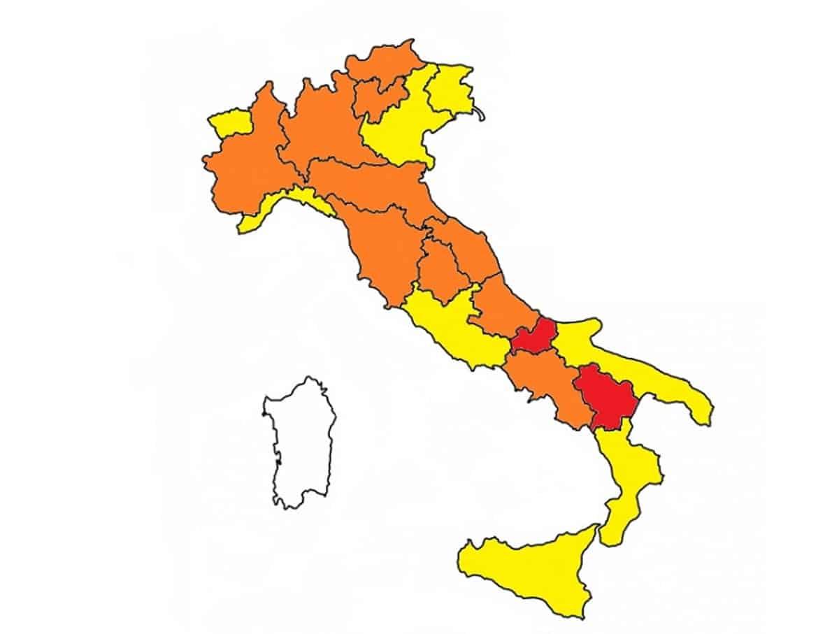 La sardegna è la prima regione bianca in Italia