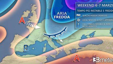 Photo of Previsioni meteo week end: ecco la situazione al nord