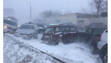 Photo of Cronaca Meteo, furiosi blizzard in Russia: venti a 90km/h e temperature a -40°C, centinaia di auto sepolte dalla neve a Chelyabinsk [FOTO e VIDEO]