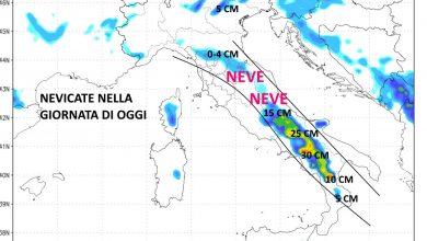 Photo of IL METEO: BUFERE di NEVE nel FINE SETTIMANA, a quote BASSISSIME al CENTRO-SUD MA ANCHE AL NORD