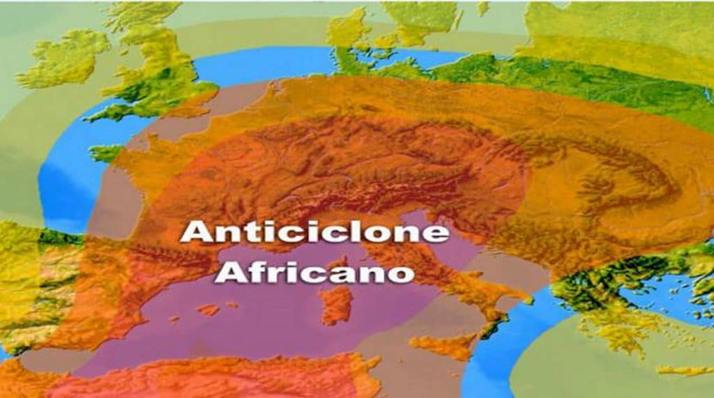 Meteo, anticiclone africano