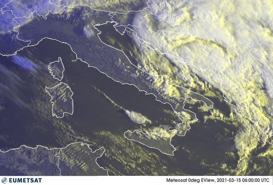 Previsioni Meteo Italia 15-03-2021