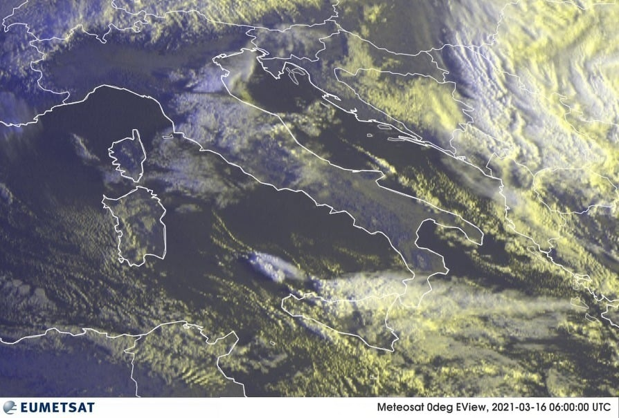 Previsioni Meteo Italia 16-03-2021