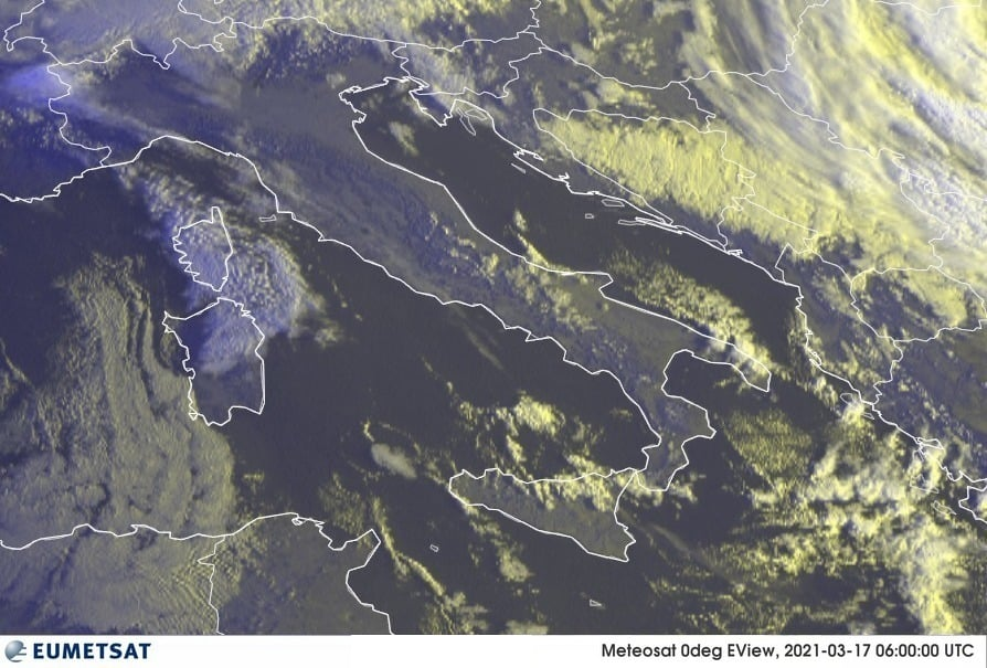 Previsioni Meteo Italia 17-03-2021