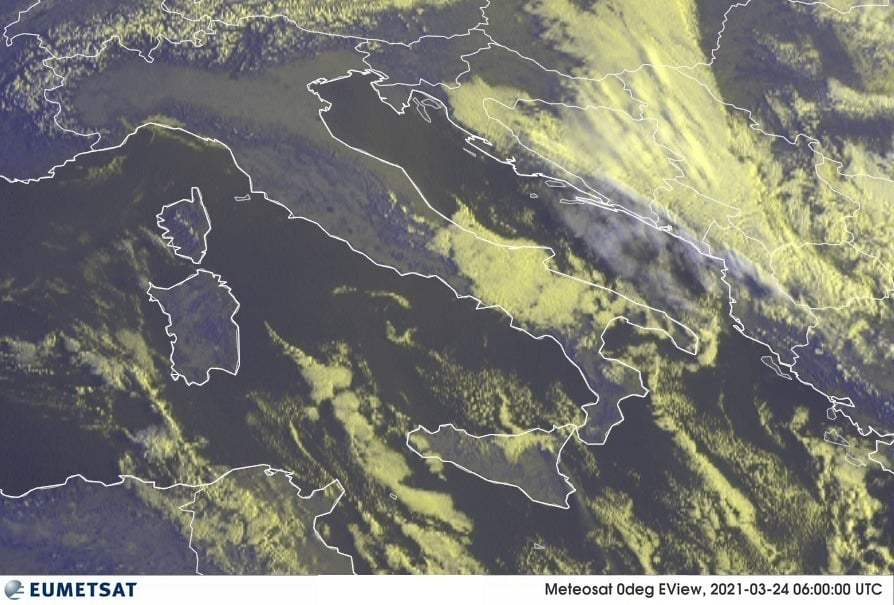 Previsioni Meteo Italia 24-03-2021