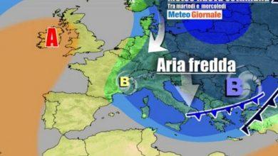 Photo of METEO Italia, freddo e neve durante la settimana