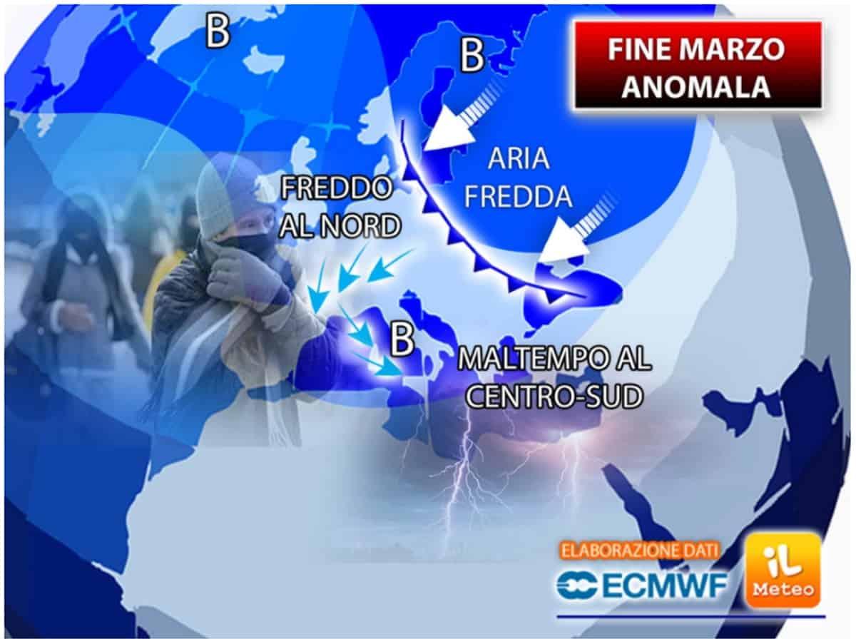 Il meteo a lungo termine, tendenza previsioni del tempo