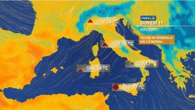 Photo of Meteo, previsioni del tempo per giovedì 11 e venerdì 12 marzo