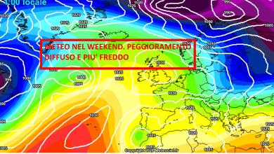 Photo of Meteo nel weekend in peggioramento. Aria fredda