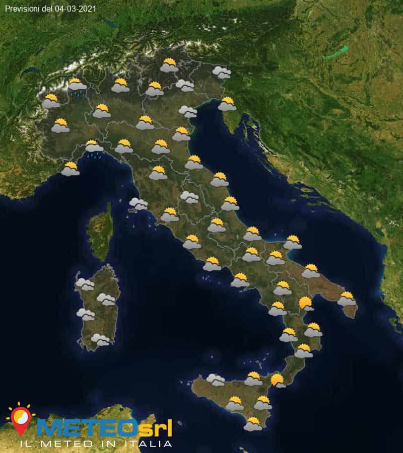 Previsioni Meteo Italia 04/03/2021