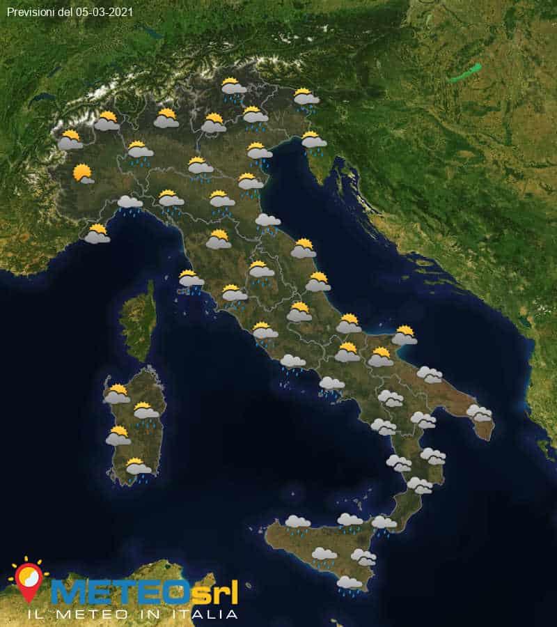 Previsioni Meteo Italia 05/03/2021