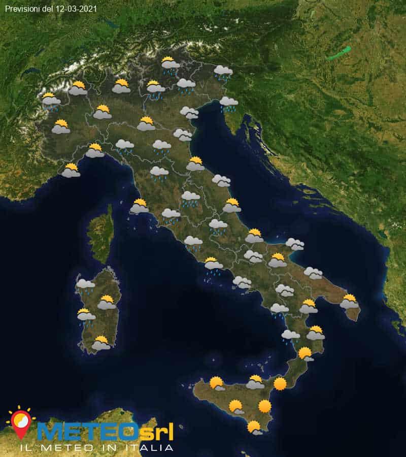 Previsioni Meteo Italia 12/03/2021