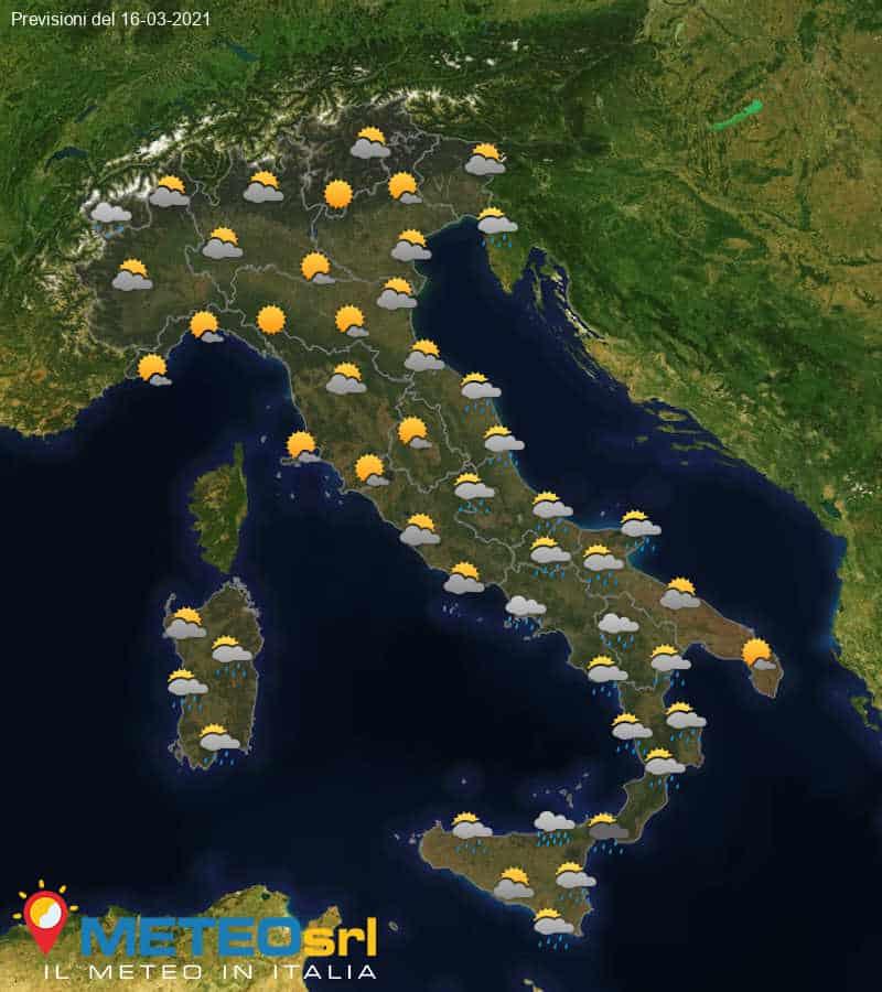 Previsioni Meteo Italia 16/03/2021