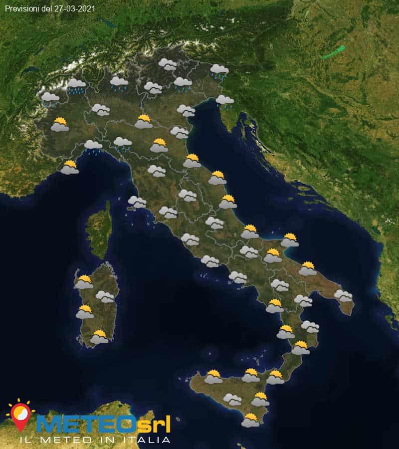 Previsioni Meteo Italia 27/03/2021