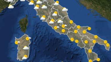 Photo of METEO AM, previsioni del tempo per OGGI E DOMANI