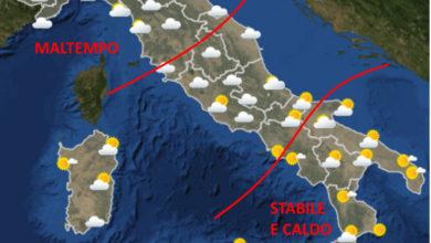 Photo of METEO AM: tempo di oggi e per i prossimi giorni. Previsioni Aeronautica Militare