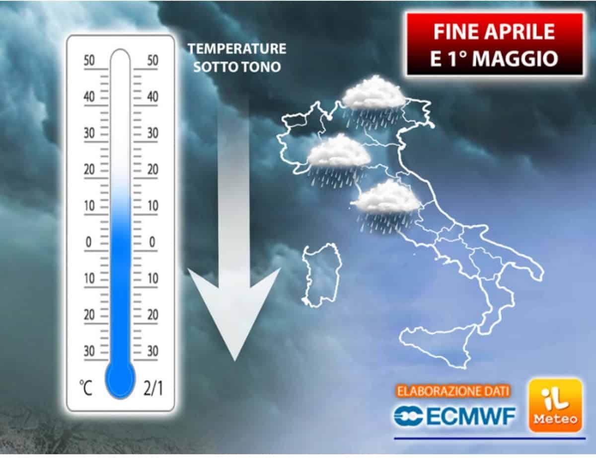 Il meteo aprile 2021 tra piogge e freddo. Previsioni per il 25 aprile e 1 maggio