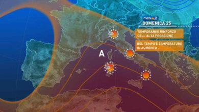 Photo of Meteo: domani quasi bello ovunque, oggi nubi e piogge a tratti