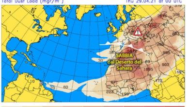 Photo of Meteo: oggi e domani ancora SABBIA in AUMENTO