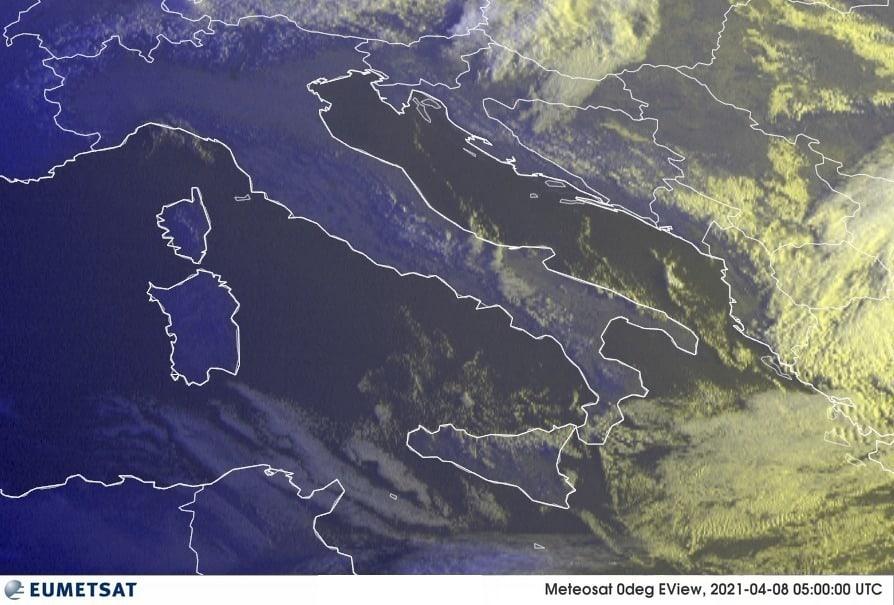 Previsioni Meteo Italia 08-04-2021