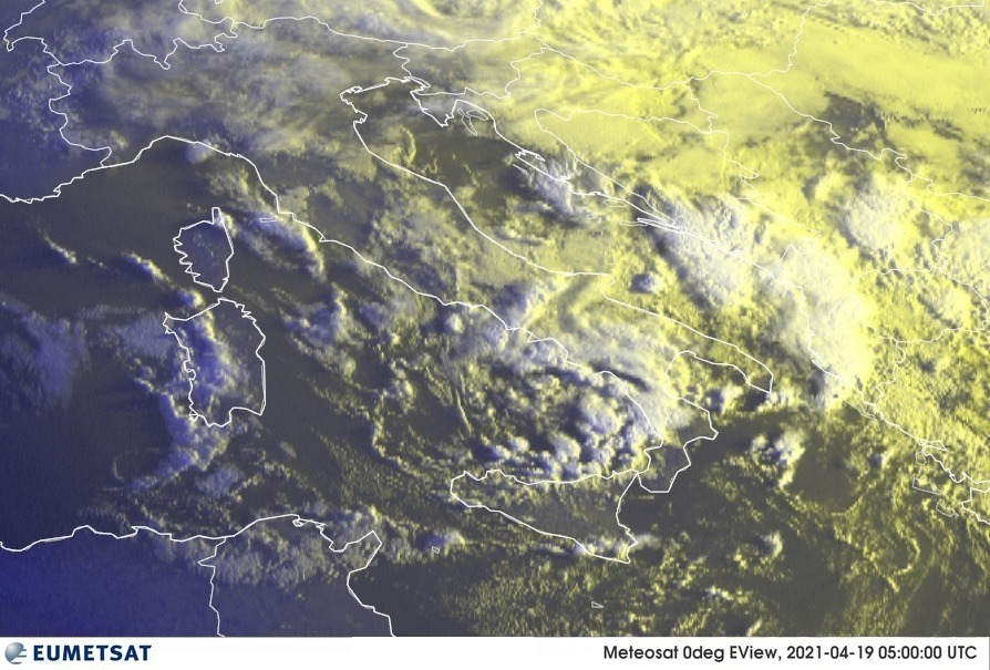 Previsioni Meteo Italia 19-04-2021