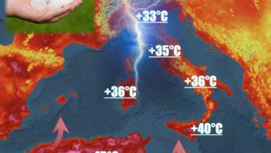 Photo of Meteo: esplode il caldo ma attenzione ai TEMPORALI DI GRANDINE