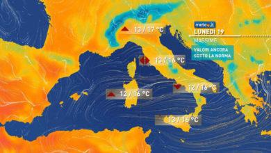 Photo of Meteo,  oggi ancora piogge soprattutto al Centro-Sud