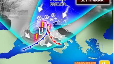 Photo of Meteo, settimana invernale. Torna anche la NEVE (mappe!)