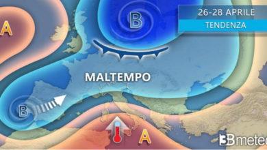 Photo of Meteo: oggi CALDO al SUD ma FORTI TEMPORALI al NORD