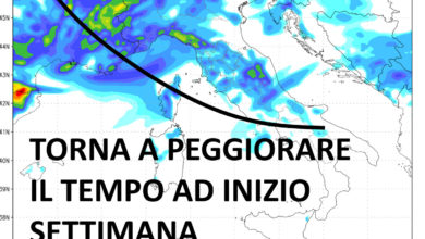 Photo of Meteolive: dopo il weekend torna il tempo instabile