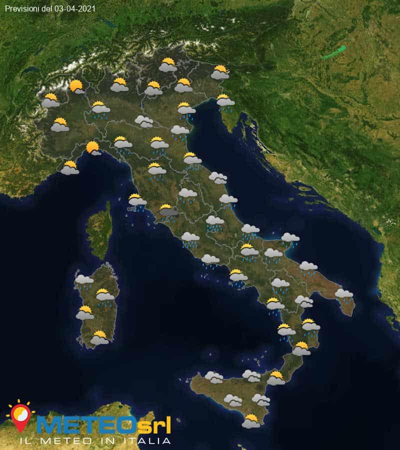 Previsioni Meteo Italia 03/04/2021