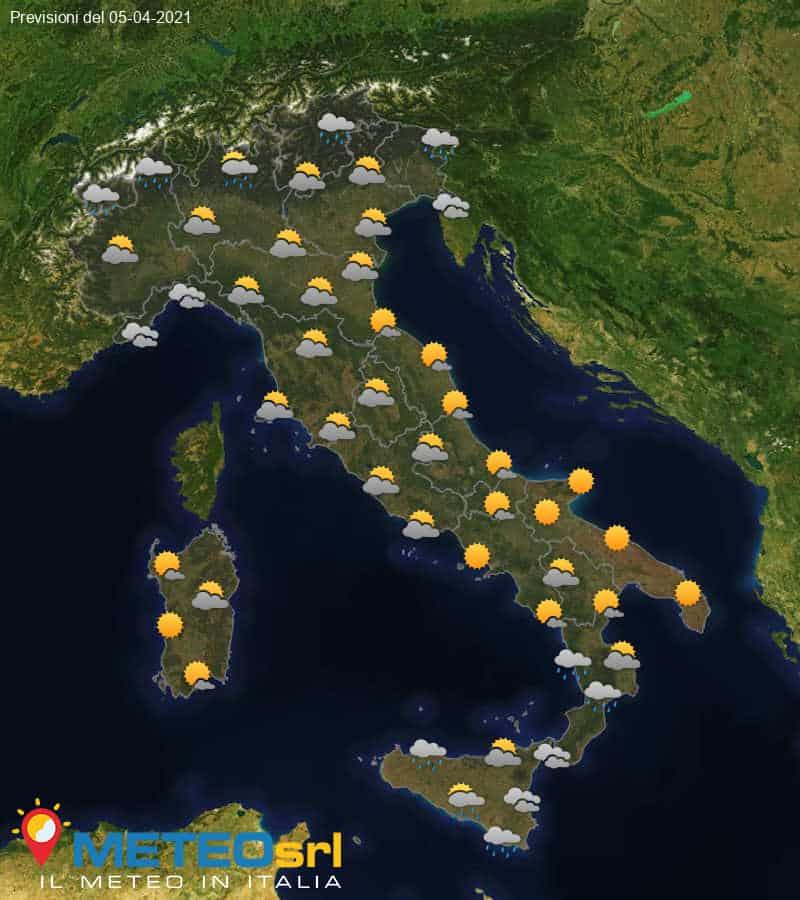 Previsioni Meteo Italia 05/04/2021