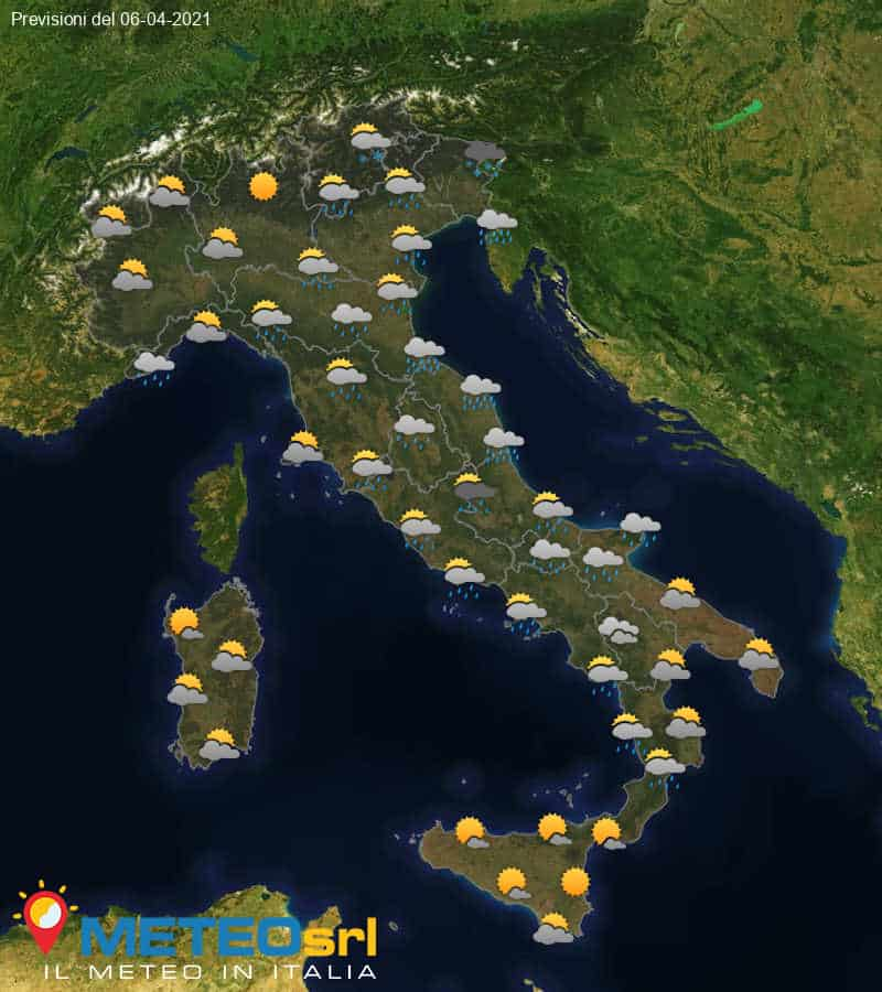 Previsioni Meteo Italia 06/04/2021