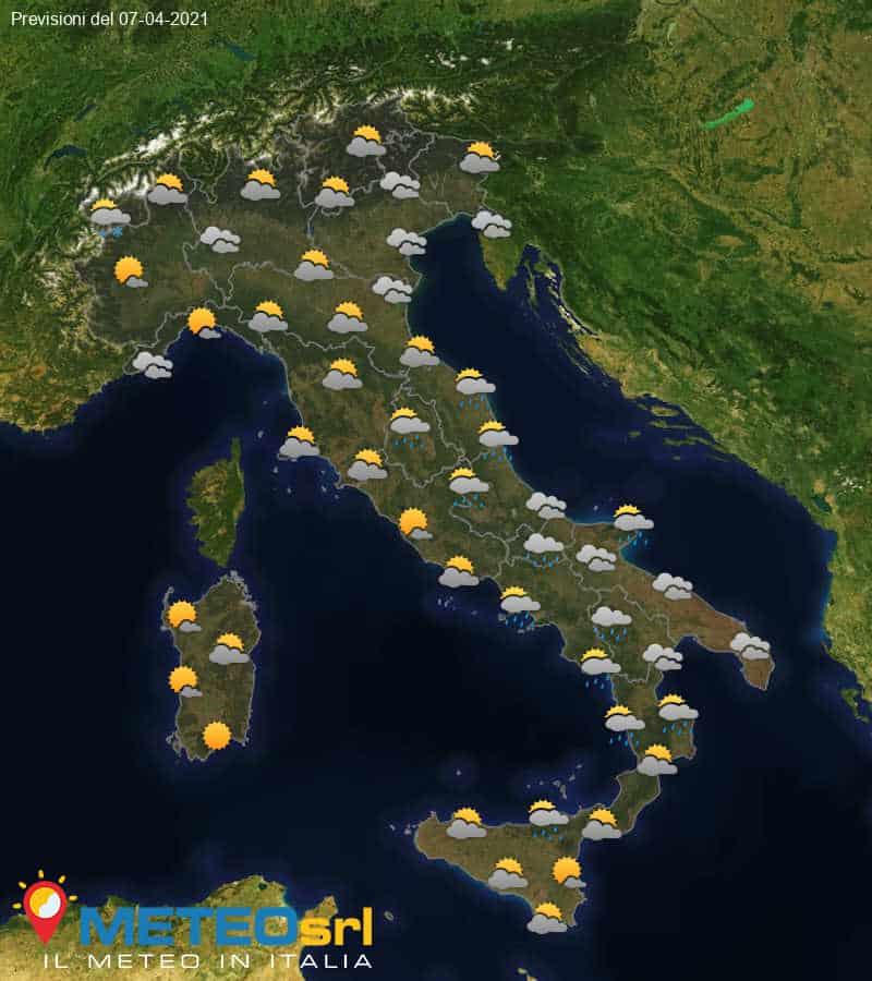 Previsioni Meteo Italia 07/04/2021