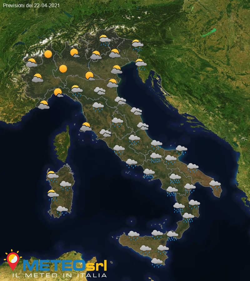 Previsioni Meteo Italia 22/04/2021