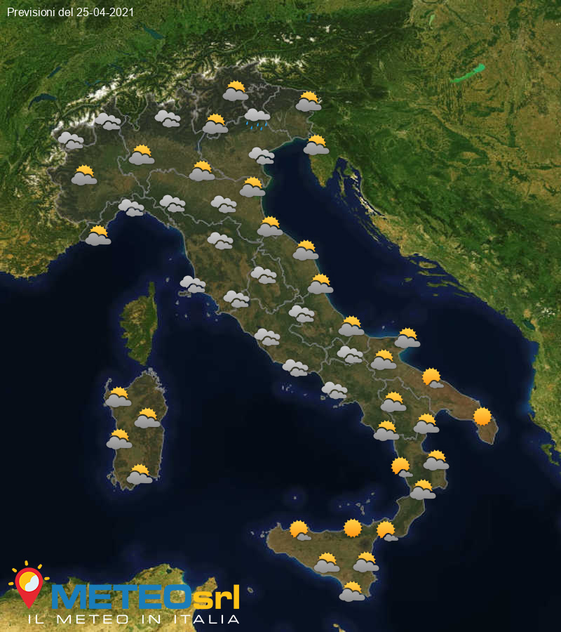Previsioni Meteo Italia 25/04/2021