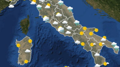 Photo of METEO AM, previsioni del tempo per OGGI